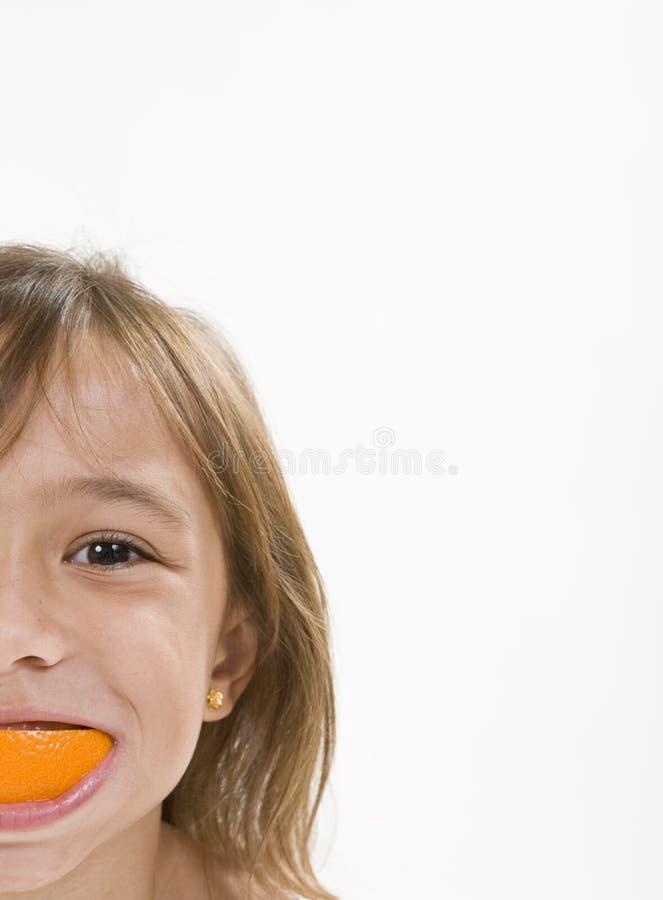 Orange Schalen-Lächeln stockfoto