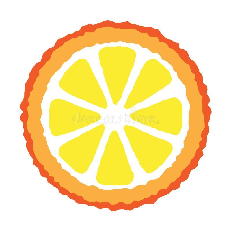 Orange Scheibe lizenzfreie abbildung