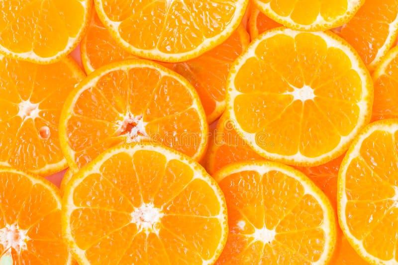 Orange Scheibe für gesundes Lebensmittel stockfotos