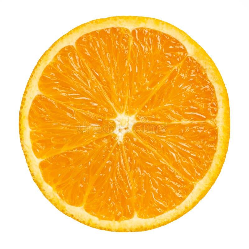 Orange Scheibe getrennt auf Weiß lizenzfreie stockbilder