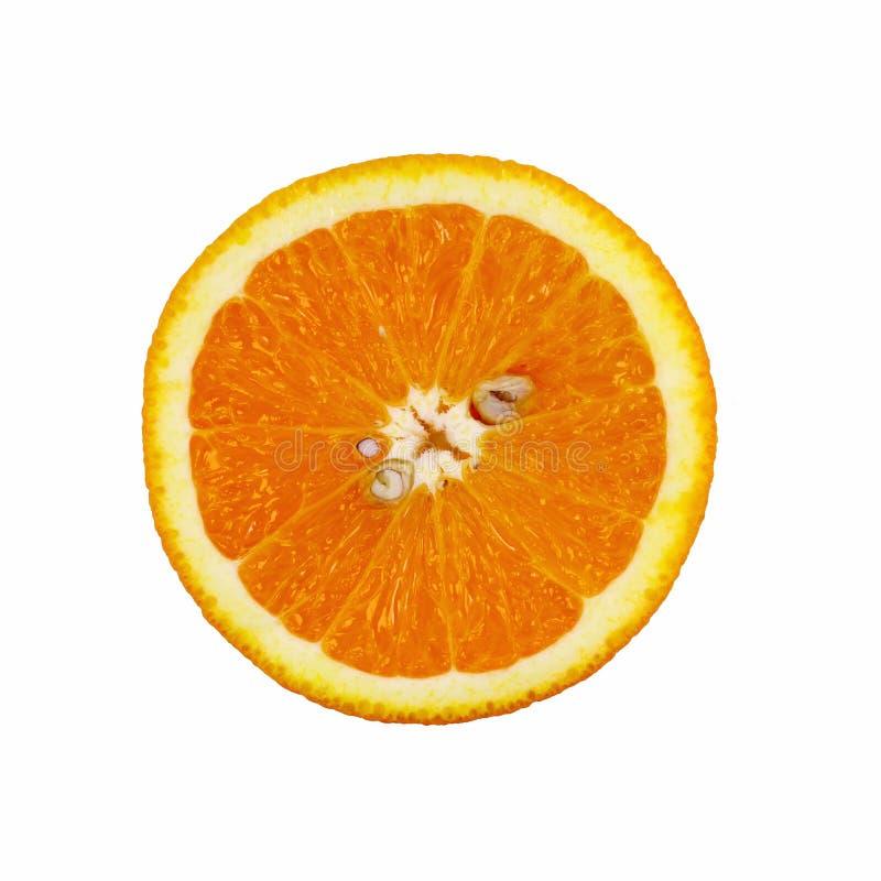 Orange Scheibe getrennt auf weißem Hintergrund stockbilder