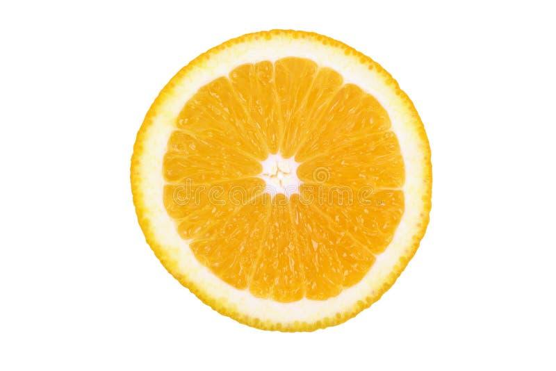 Orange Scheibe getrennt auf weißem Hintergrund lizenzfreies stockfoto