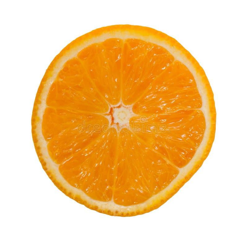Orange Scheibe lokalisiert auf weißem Hintergrund stockfotos