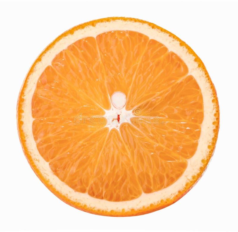 Orange Scheibe lokalisiert auf weißem Hintergrund ohne Schatten stockbilder