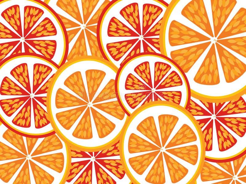 Orange Scheiben vektor abbildung