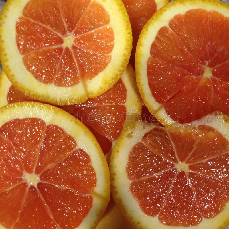 Orange Scheiben stockfotografie