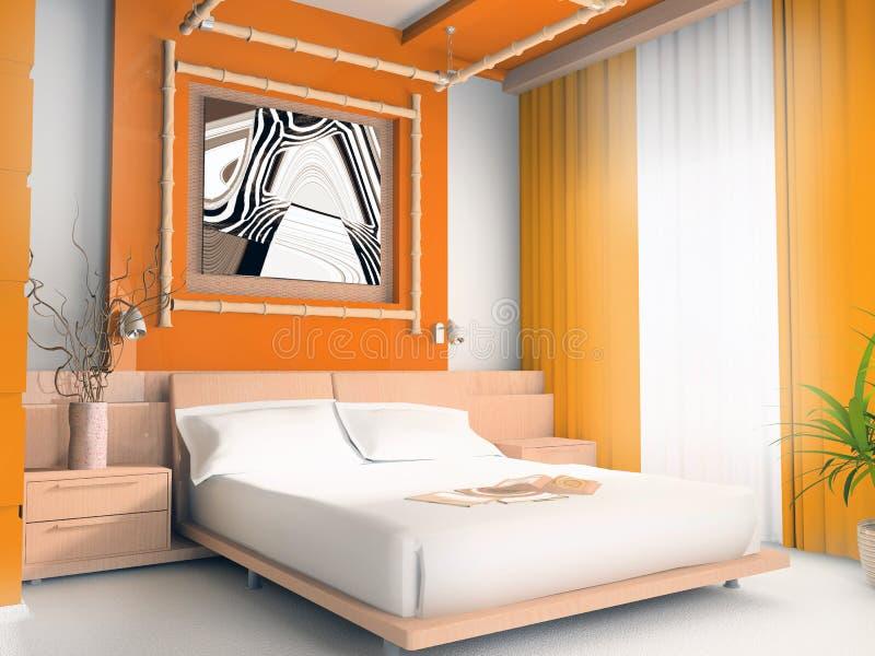 Orange Schlafzimmer stockfoto. Bild von haus, entspannung - 2663146
