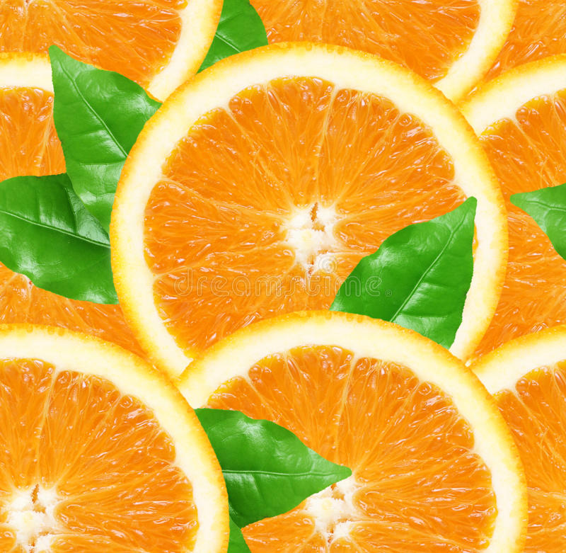 Orange schneidet nahtlosen Hintergrund stockfotos
