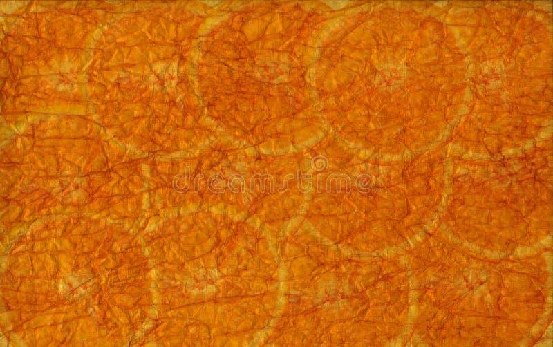 Orange schneidet Weinlesebeschaffenheiten lizenzfreie stockfotografie