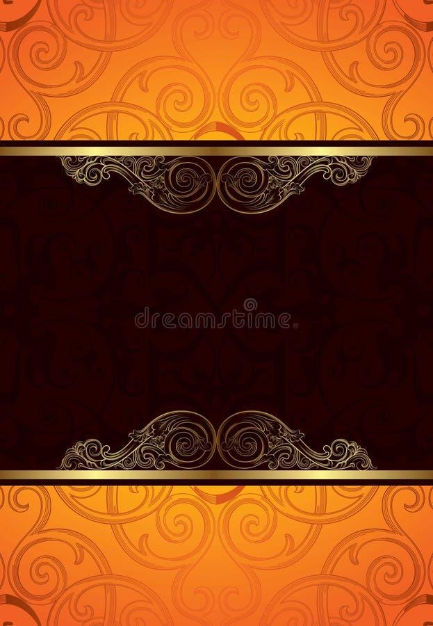 Orange Schokoladen-Hintergrund vektor abbildung