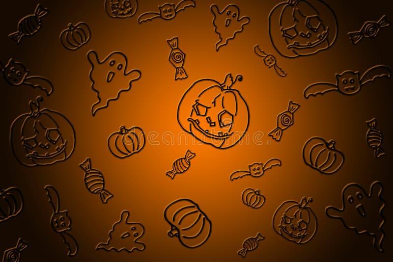 Orange schwarzer Hintergrund Halloween-Partei vektor abbildung