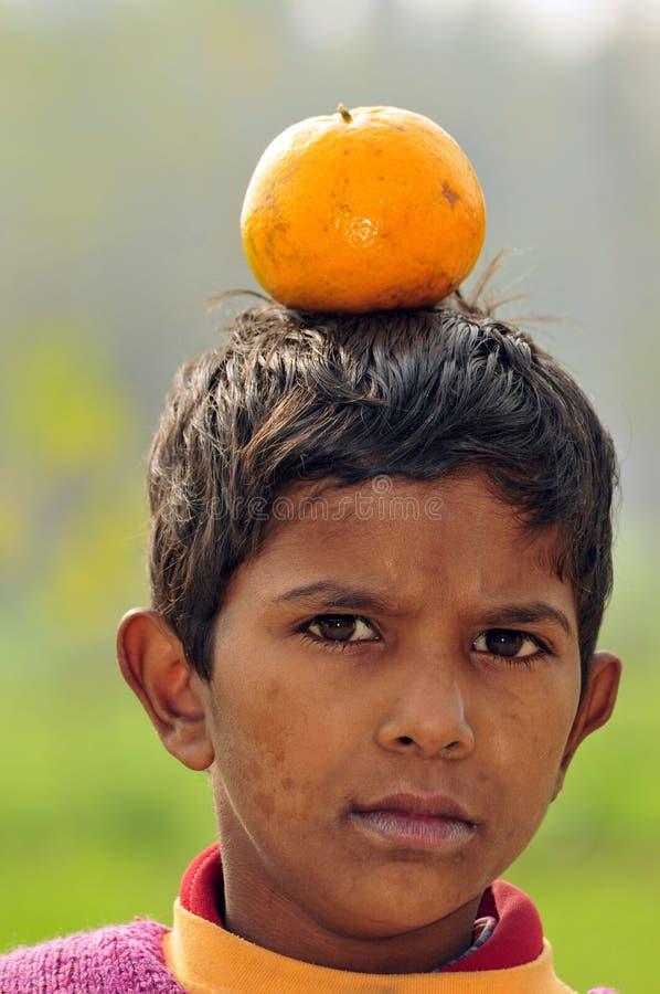 Orange Schwerpunkt stockbild