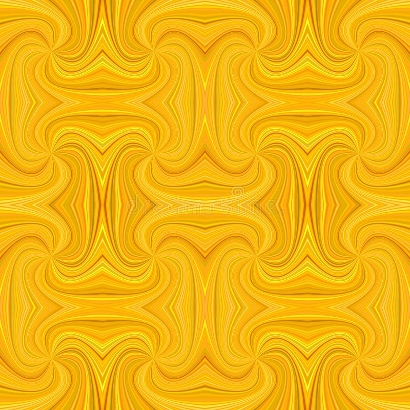Orange seamless psychedelic geometrcial spiral background royalty free illustration