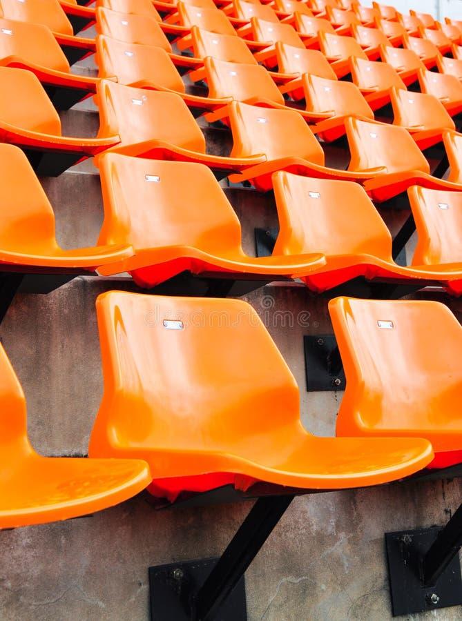 Free Orange Seat In Stadium Royalty Free Stock Images - 15342929
