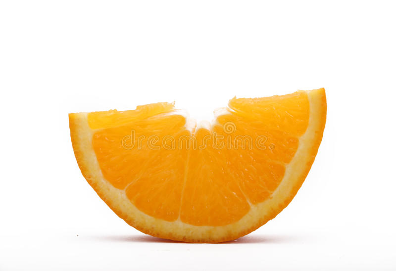 Orange. An orange section in a white place stock photo