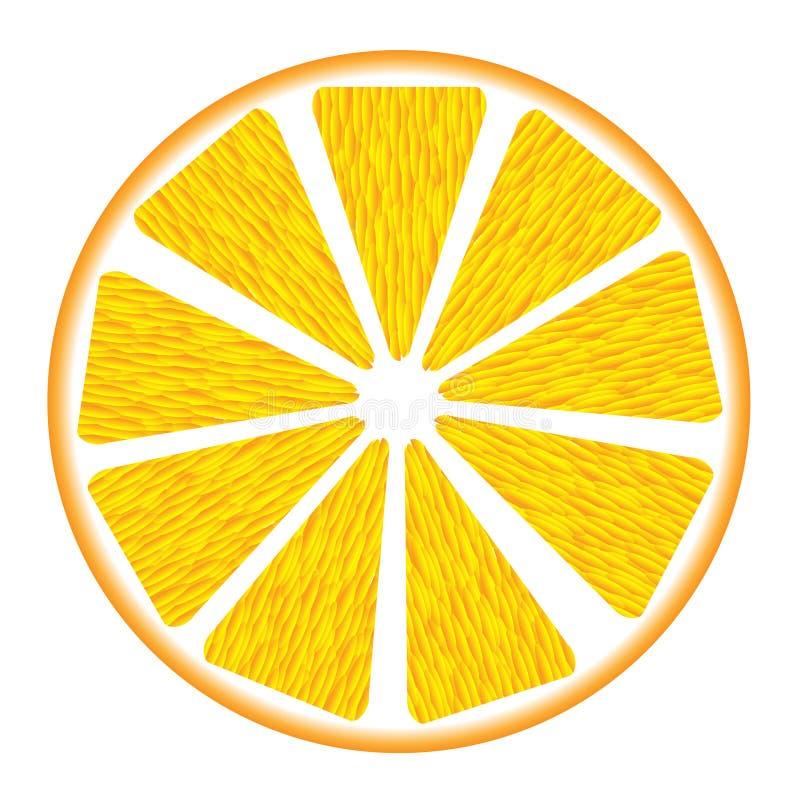 Orange Segment stock abbildung