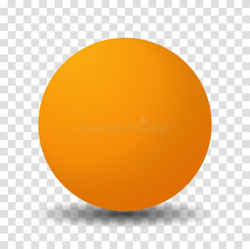 Orange sfärboll royaltyfri illustrationer