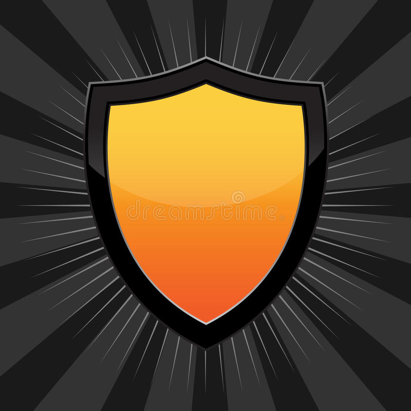 Download Orange Shield stock vector. Image of coat, empty, badge - 13501110