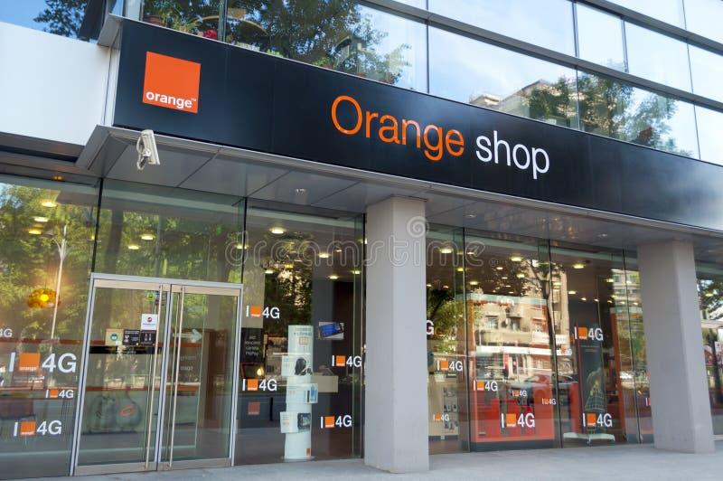 orange shop editorial image image of phone mobile. Black Bedroom Furniture Sets. Home Design Ideas
