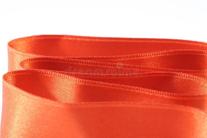 Orange silk royalty free stock image
