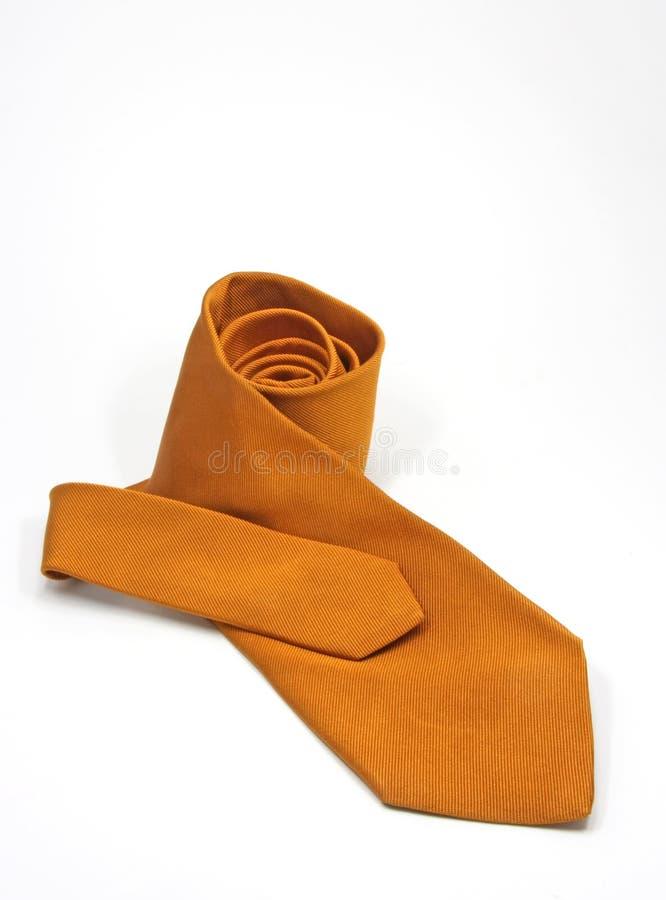 Orange Silk Tie Royaltyfri Bild