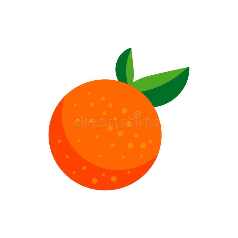 Orange simple illustration isolated on white background. orange fruit logo. design. emblem royalty free illustration