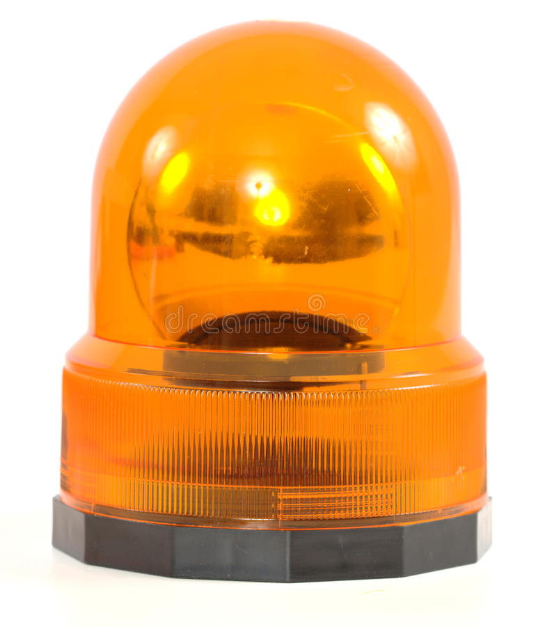 Orange siren. A shot of an orange siren stock images