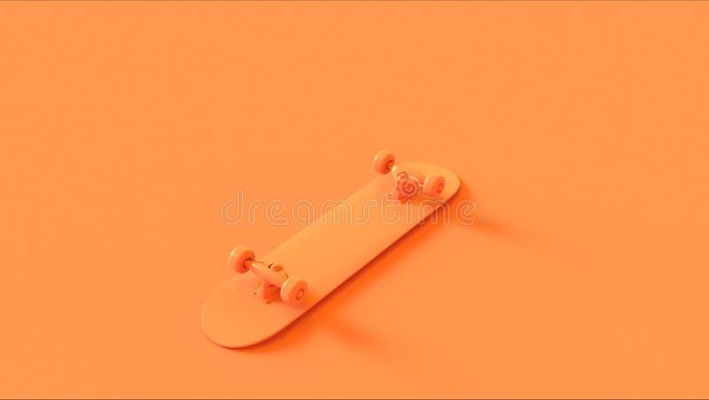 Orange Skateboard high angle royalty free stock image
