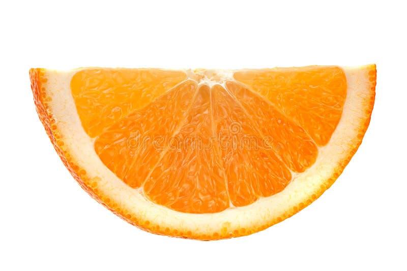 Orange skiva på vit arkivbild