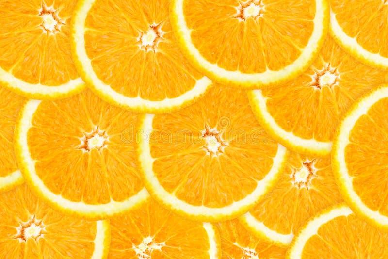 orange skivor fotografering för bildbyråer