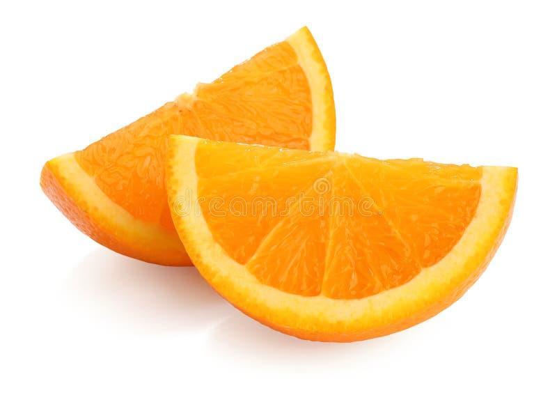 orange skivor arkivfoton