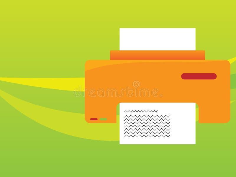 orange skrivare royaltyfria foton