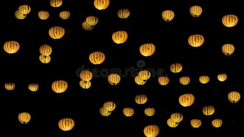 Orange Sky Lanterns Free Public Domain Cc0 Image