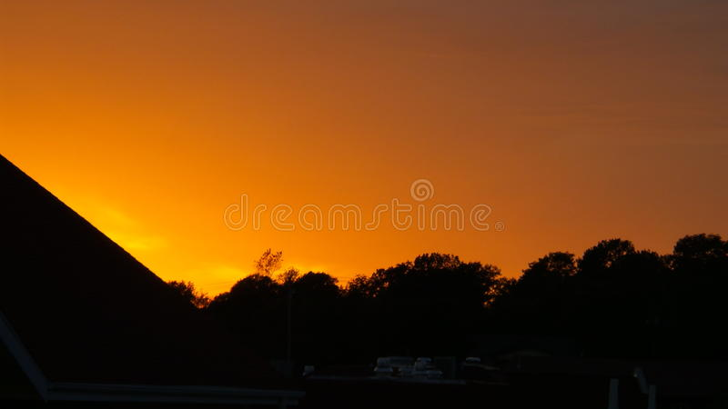 Orange Sky royalty free stock image