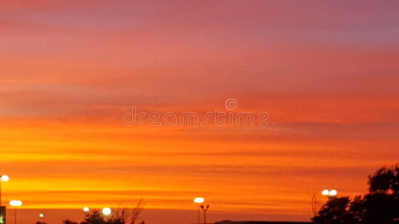 Orange sky stock images