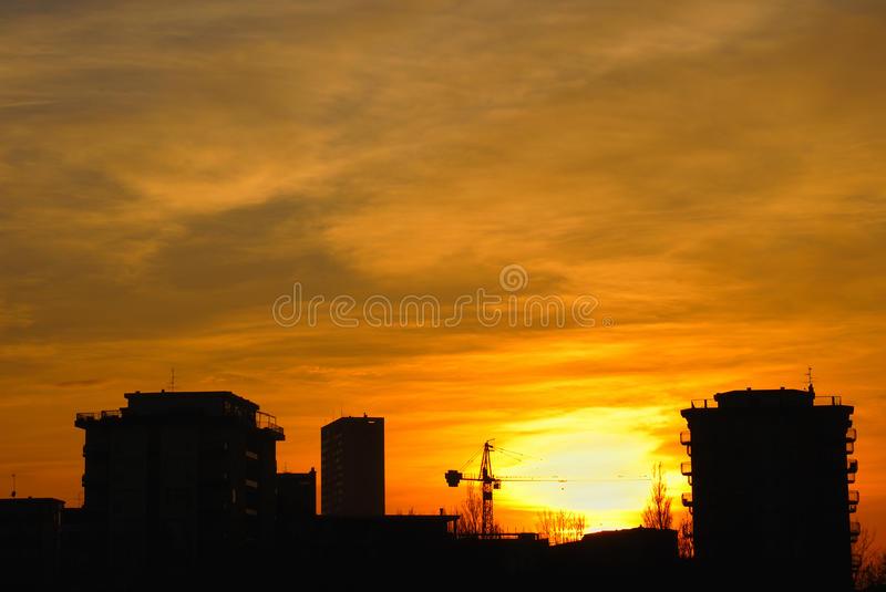 Download Buildings at sunset stock photo. Image of sunshine, building - 30221124