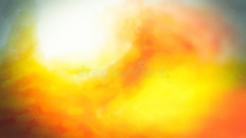 Orange Sky Yellow Background Beautiful elegant Illustration graphic art design Background. Image stock illustration