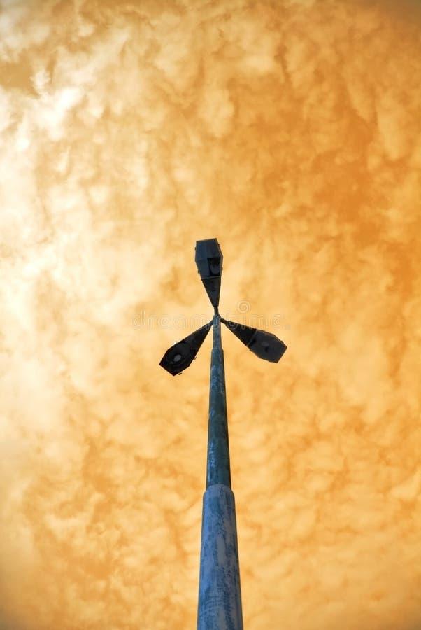 orange skyyelow fotografering för bildbyråer