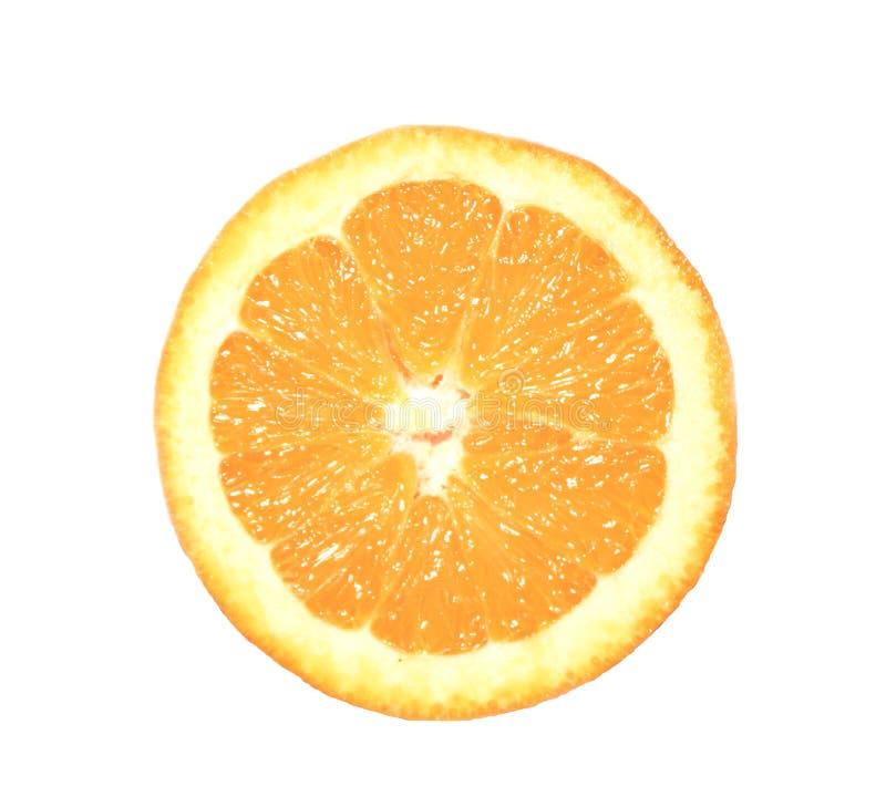 Orange slice. Mellow orange slice with juices royalty free stock image