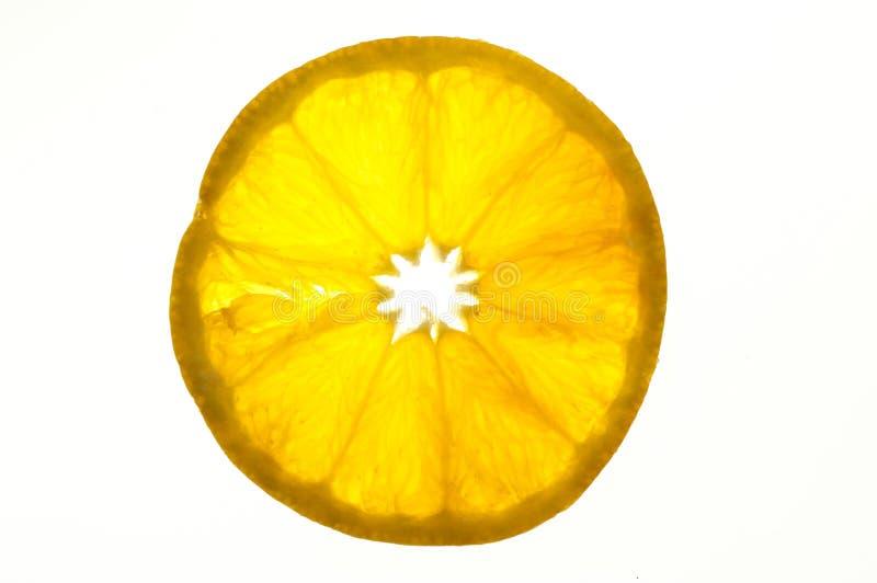 Orange slice. Isolated on white background royalty free stock images