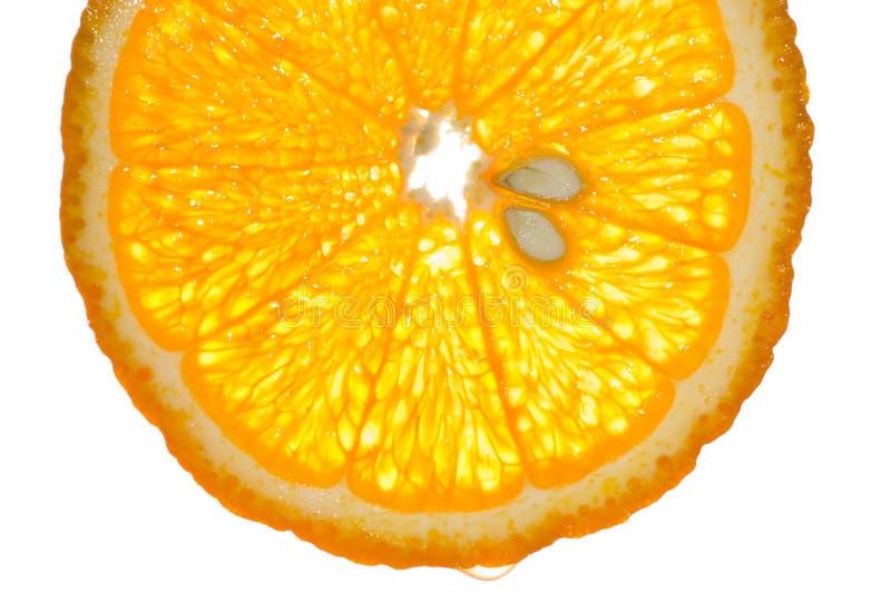 Orange slice. Extremly close; macro image stock images