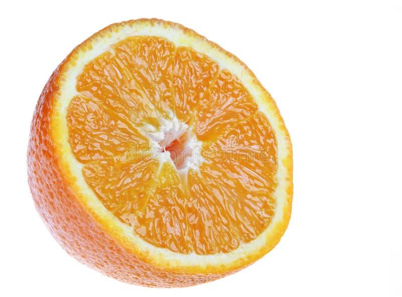 Orange slice. Isolated on white background detail royalty free stock image