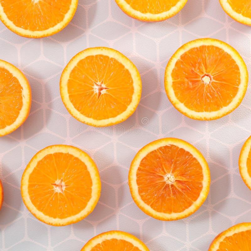 Orange slice background. Top view stock image