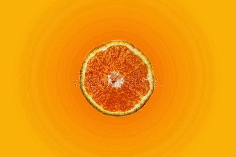 Orange slice. On color background royalty free stock images