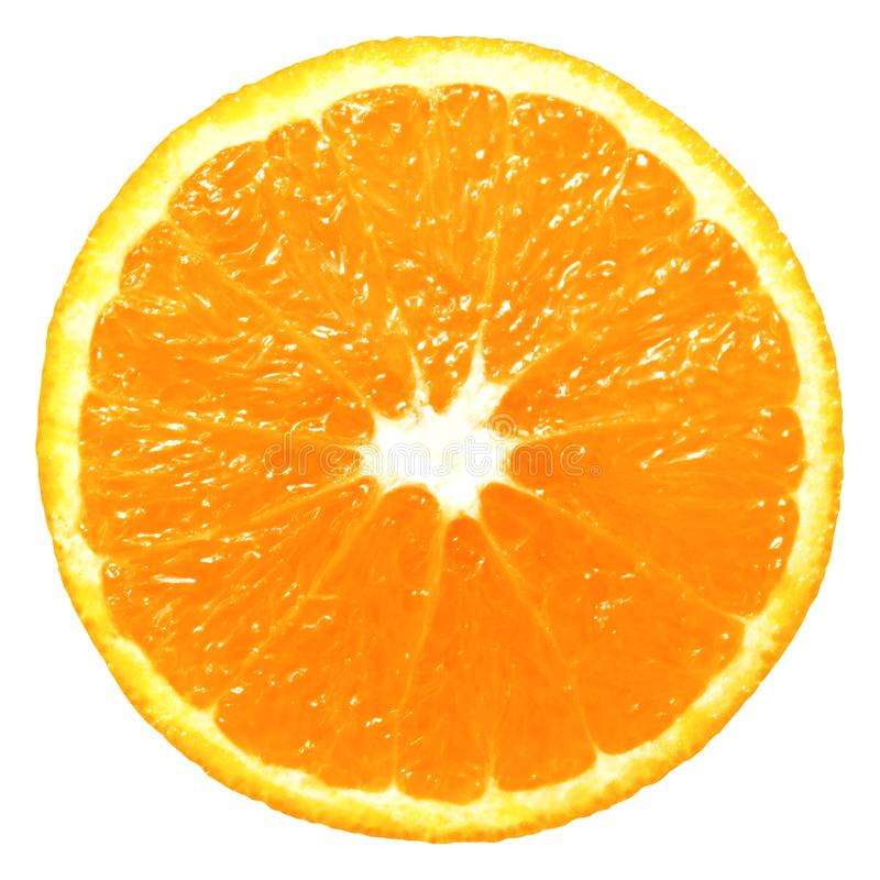 Orange slice isolated stock photo