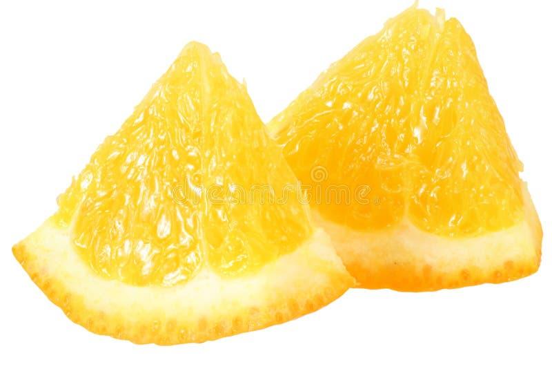 Orange slice isolated on white background. macro royalty free stock image