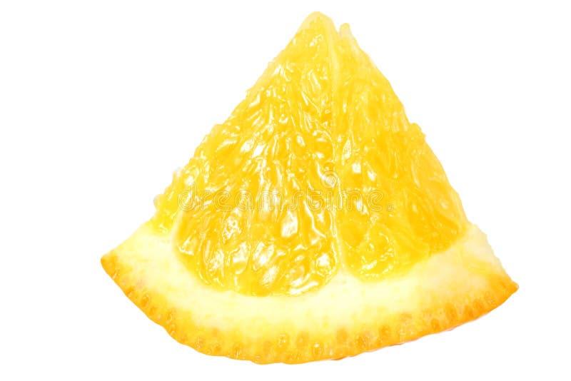 Orange slice isolated on white background. macro royalty free stock photos