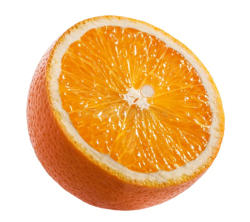 Orange slice isolated on white with clipping path stock photography