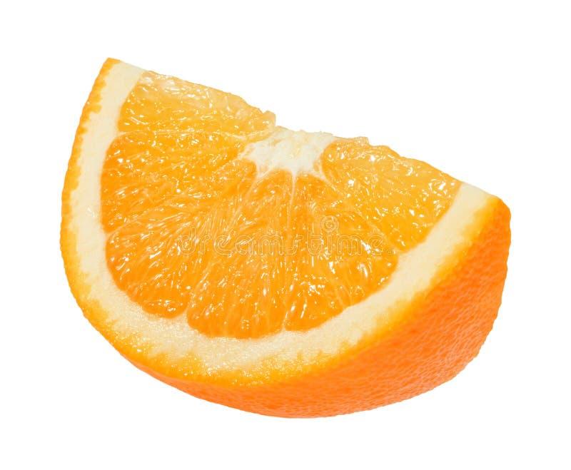 Orange slice isolated on white without shadow stock photos