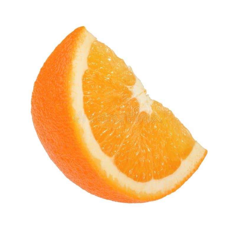 Orange slice isolated on white without shadow stock image